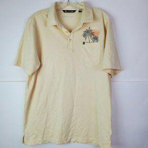 Travis Mathew Men's Golf Polo Shirt M Yellow Palm